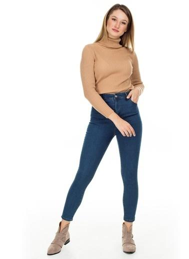 Lela Lela Skinny Kadın Kot Pantolon 58714859 Yeşil
